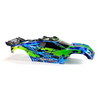 Traxxas Rustler 4X4 VXL Blue/Green Body Shell w/ Clipless Mounting