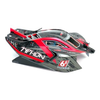 Typhon 6S BLX Painted Decaled Trimmed Body (Black/Red) ARA406120