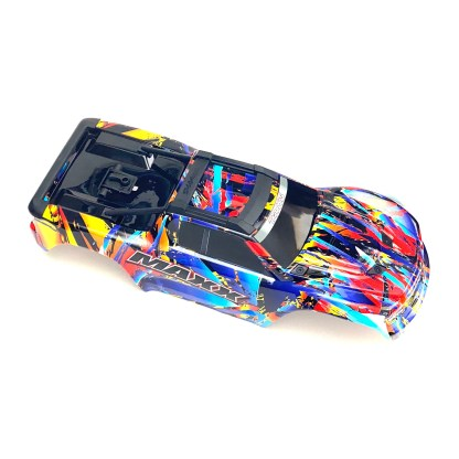 Traxxas 1/10 Maxx 4WD 4S Body Shell Rock 'n Roll Painted Decaled