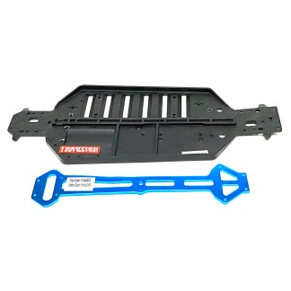 Redcat Racing Volcano EPX PRO Chassis w/ Blue Aluminum Upper Brace
