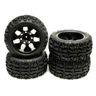 Redcat Racing Volcano EPX PRO Wheels & Tires Factory Mounted & Glued