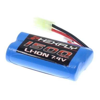 Hexfly Battery Pack 7.4V 1500mAh Li-ion Battery for Danchee Ridgerock 12225TA
