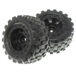 Redcat Racing Volcano-16 Wheels & Tires Complete (2pcs) RER13675