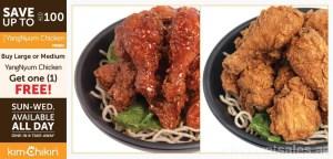 Buy 1 Get 1 Free YangNyum Chicken Promo at KimChikin