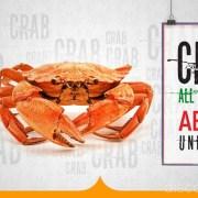 Fish Hut Unlimited Sea Food (Crabs) on Mondays
