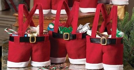 Santa Pants Gift Bags