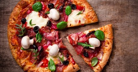 Malt Beverage and Pizza