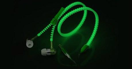 LED Glowing Zipper Headphones