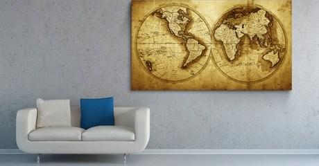 World Maps Canvas Prints