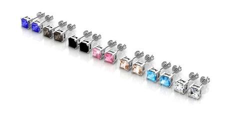 7-pairs of Swarovski Elements earrings