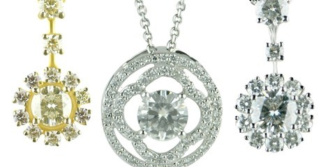Diamond Pendants and Earrings