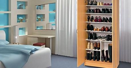 Wooden Shoe Cabinet