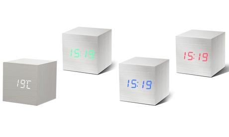 White Cube Clock