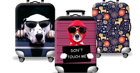 Animal Theme Printed Luggage Covers