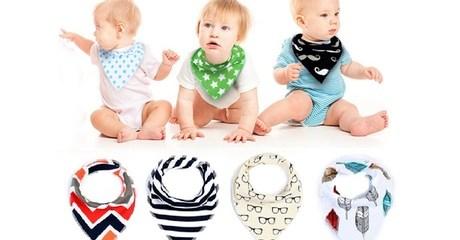 Set of Baby Bandana Bibs