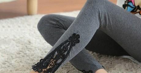 Lace Trim Leggings