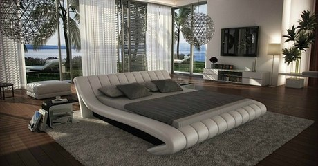Celeste Curved Bed Frame