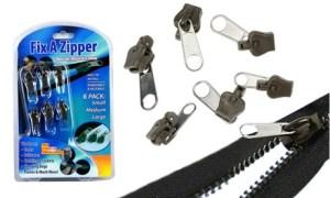 Six-Piece Pack of Zipper Fixes
