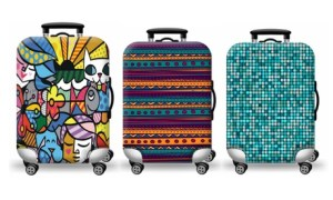Abstract Theme Luggage Cover