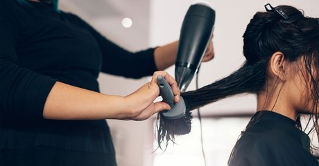 Hair can be remodelled and restyled during up to five sessions of blow-dry for AED35.00 at Discount Sales.
