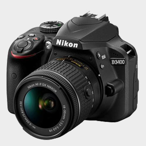 Nikon SLR Camera D3400 + AF-P 18-55 Black Price in Qatar Lulu