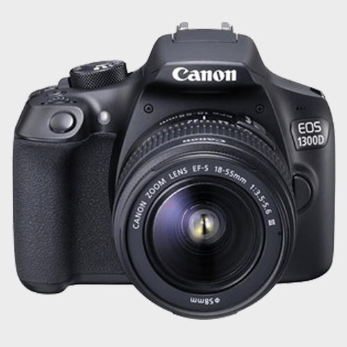 Canon DSLR Camera EOS1300D 18-55mm Lens Black Price in Qatar