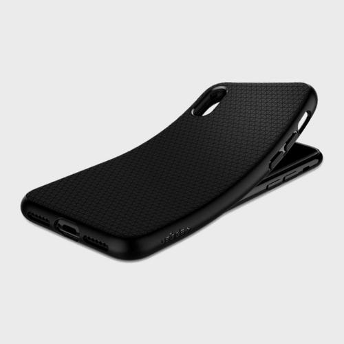 Spigen iPhone X Case Liquid Air Matte Black price in Qatar lulu