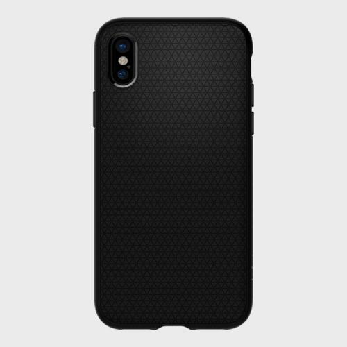 Spigen iPhone X Case Liquid Air Matte Black price in Qatar souq
