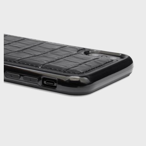 Gold Black iPhone X case Croco Black Price in Qatar