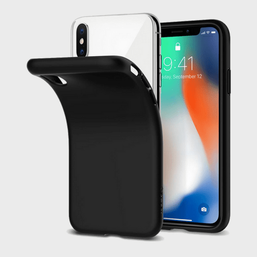 Spigen iPhone X Case Liquid Crystal Matte Black price in Qatar lulu