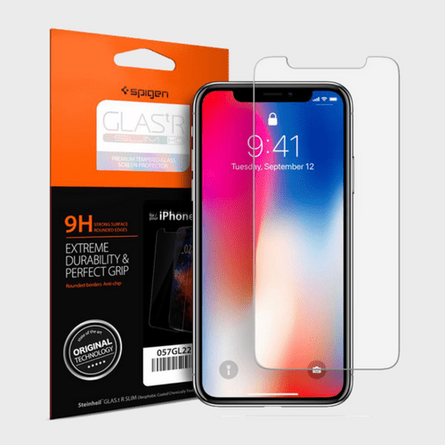Spigen iPhone X Screen Protector GLAS.tR SLIM HD price in Qatar