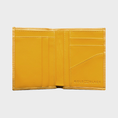 Goldblack Bifold Slim Wallet Unico Yellow price in Qatar souq