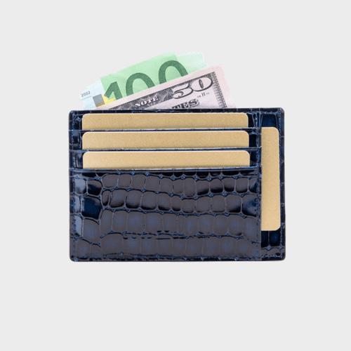 Goldblack Card Holder Bill Milano Blue price in Qatar souq