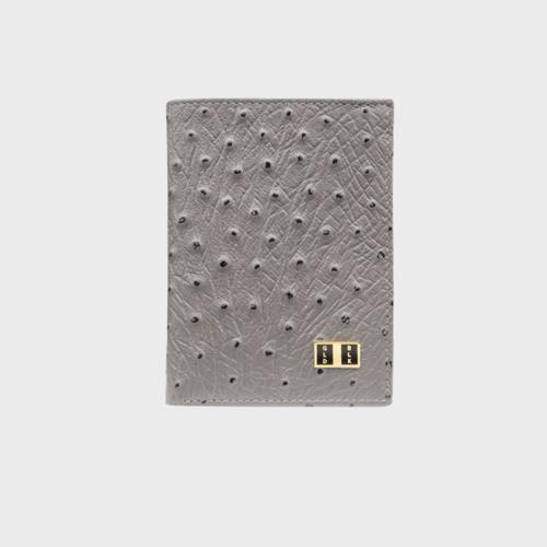 Goldblack Bifold Slim Wallet Ostrich Grey price in Qatar