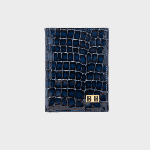 Goldblack Bifold Slim Wallet Milano Blue price in Qatar