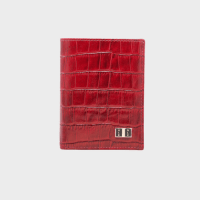 Goldblack Bifold Slim Wallet Croco Red price in Qatar