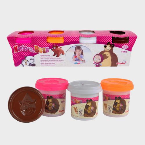 Masha And The Bear - Masha Soft Dough 4 Color Set 9302509 Price in Qatar lulu