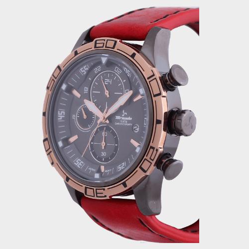Tornado Men's Chronograph Watch Grey Dial Leather Band T5120-XLRXK price in Qatar lulu