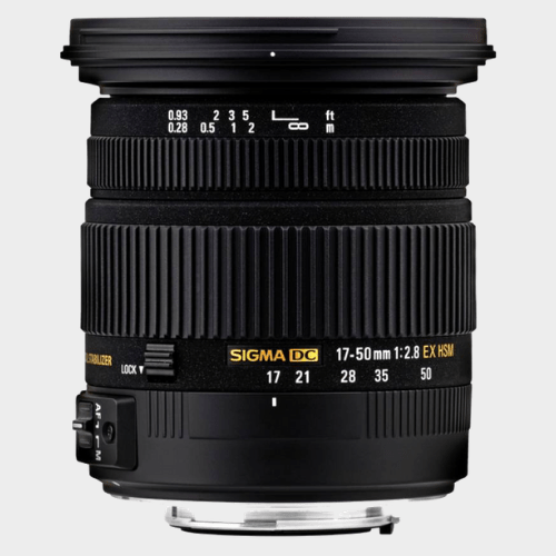Sigma 17 - 50 mm F2.8 EX DC (OS) Lens For Canon Lens price in Qatar souq