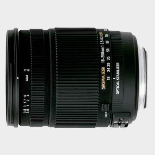 Sigma 18 - 250 mm F3.5-6.3 DC Macro OS HSM for Canon Digital SLR Lens price in Qatar souq