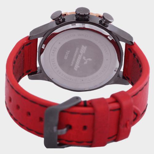 Tornado Men's Chronograph Watch Grey Dial Leather Band T5120-XLRXK price in Qatar souq