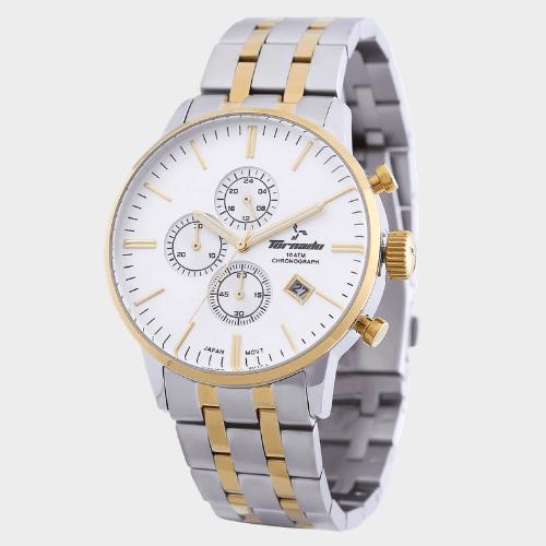 Tornado Men's Chronograph Watch Silver Dial Stainless Steel Band T6102-GBTSG price in Qatar