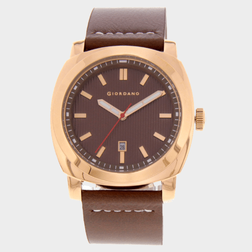 Giordano Mens Analog Watch Brown Strap With Brown Dial 1789-06 price in Qatar