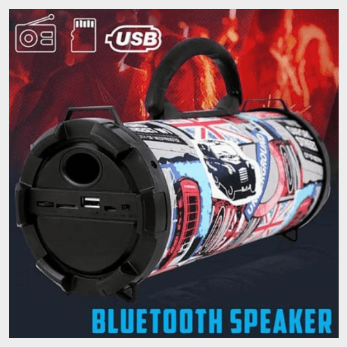 Fashionable Graphics Design Rechargeable Bluetooth Speaker Price in Qatar