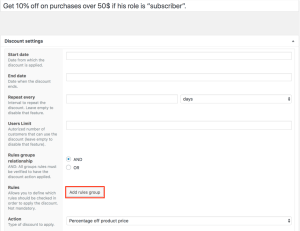 WooCommerce dynamic pricing - example 3