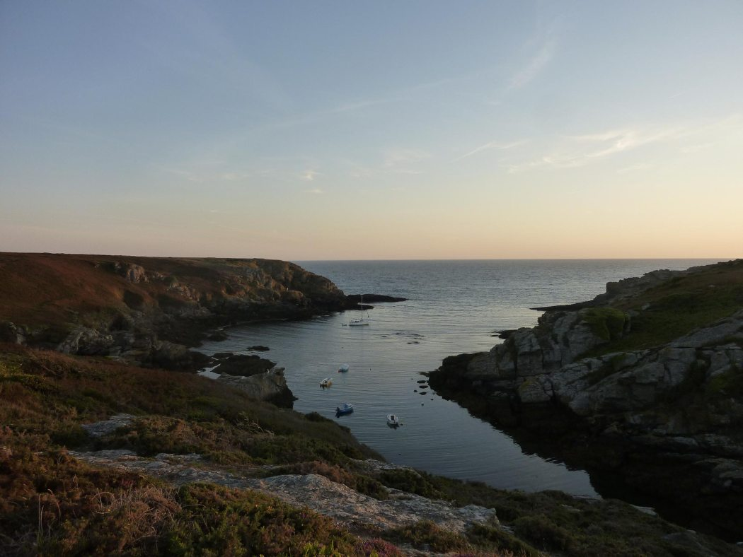 Port Saint Nicolas at sunset, island of Groix