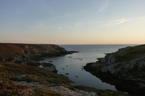 Port Saint Nicolas at sunset, island of Groix