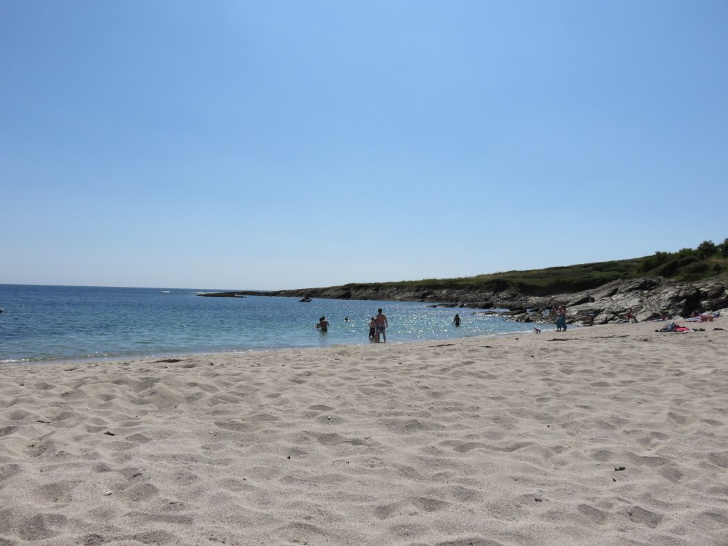 Porh Roëd beach in July on the island of Groix