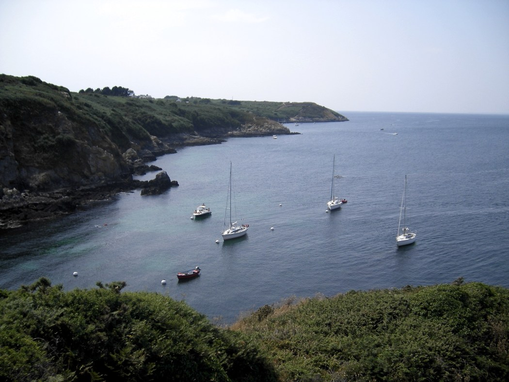 The creek of Port Melin in the summer on the island of Groix