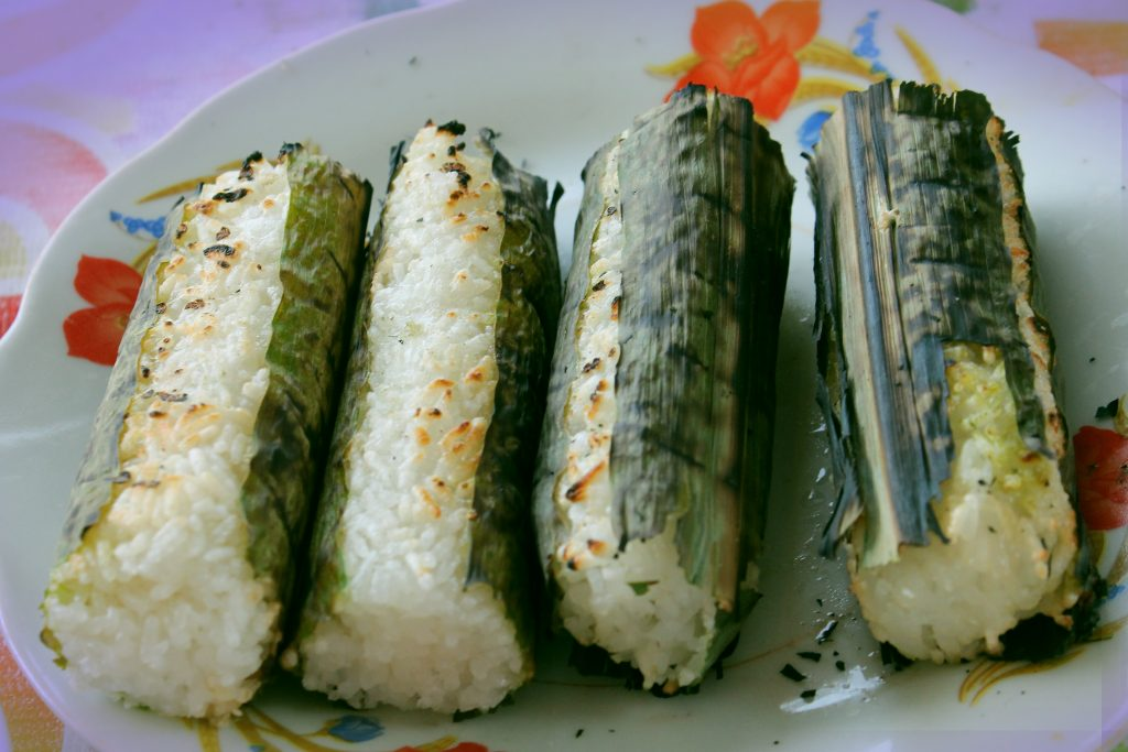 Com Lam (Rice is cooked in Bamboo body